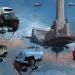 أليخاندرو بورديسيو يجسد مدينة المستقبل في لوحات فنية