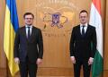 كوليبا وسيجارتو يبحثان سبل تطوير العلاقات الثنائية بين اوكرانيا والمجر