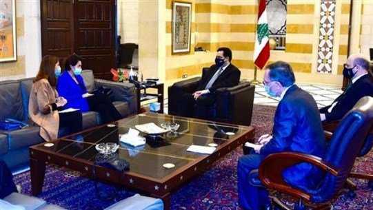 السفيرة الفرنسية في لبنان آن غريو في ضيافة حسان دياب