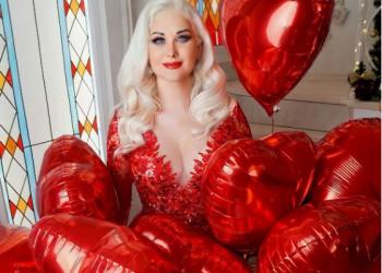 المغنية كاترينا بوزينسكا تحتفل بعيد الحب