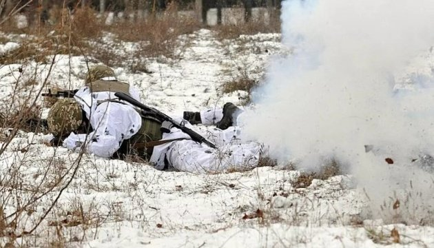 انتهاك وقف اطلاق 14 مرة في دونباس، واستعمال اسلحة غير مسموحة