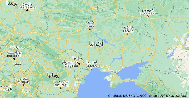 خريطة اوكرانيا