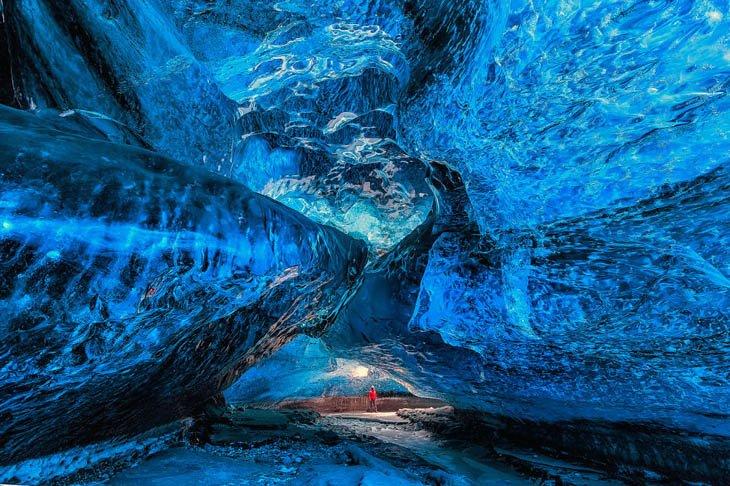 كهف فاتناجوكول الجليدي، أيسلندا.