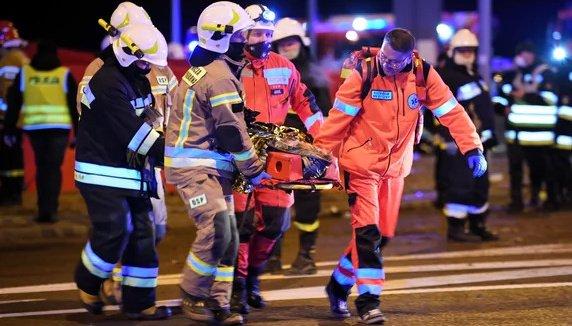 24 أوكرانيا ما زالوا على اسرة الشفاء بعد حادث بولندا