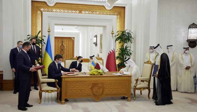 اوكرانيا وقطر توقعان على 15 زيلينسكي