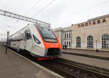 قطار ديزل جديد على سكك القطارات الأوكرانية