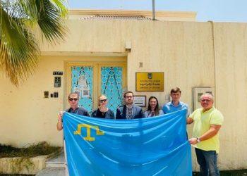 السفارة الاوكرانية في السعودية تحتفل بيوم العلم الاوكراني