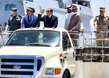 الرئيس المصري السيسي يفتتح قاعدة بحرية استراتيجية للبحر المتوسط