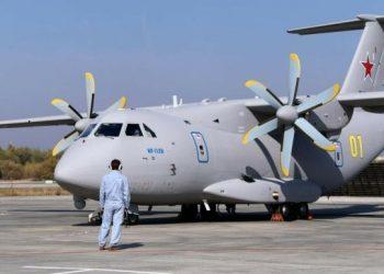 أحدث طائرة نقل عسكرية تحطمت بالقرب من موسكو.