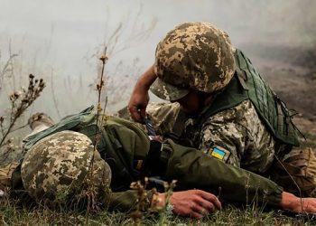 أصيب جندي أوكراني بشظايا قذيفة بعد خرق وقف أطلاق النار من قبل الجانب الروسي