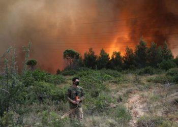 أوكرانيا ترسل رجال إطفاء إلى اليونان للمساعدة في إخماد حرائق الغابات