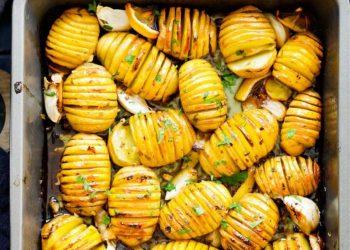 البطاطس المشوية بالليمون والأعشاب