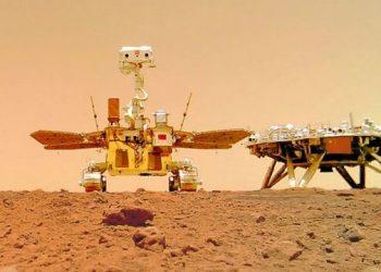 المركبة الصينية تعمل على الكوكب الأحمر لمدة 100 يوم