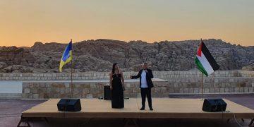 اوكرانيا تحتفل بعيد الاستقلال في مدينة البتراء الاردنية