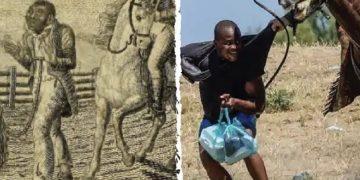 التاريخ المظلم لأمريكا يظهر بدفع الهايتيين بالخيول على الحدود