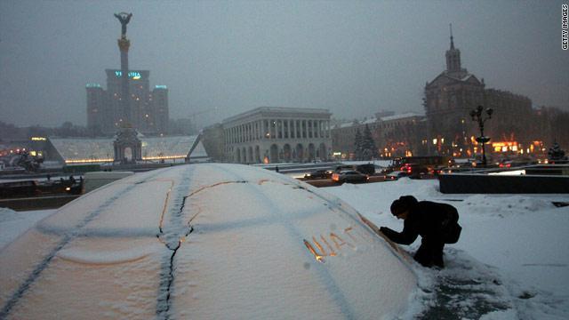 تساقط الثلج في منطقة الكاربات