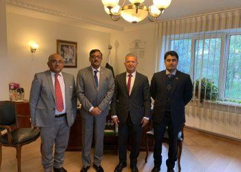 رئيس الرابطة الأوكرانية العربية لرجال الأعمال والمستثمرين يلتقي السفير الباكستاني في اوكرانيا