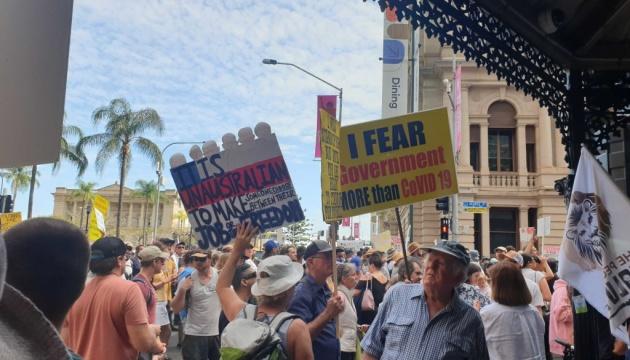 في أستراليا احتجاجات ضد قيود COVID-19 والتطعيمات