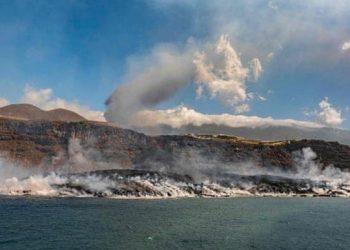 الحمم البركانية في جزر الكناري بمساحة تعادل 25 ملعب كرة قدم