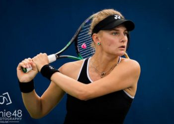 Dayana Yastremska of the Ukraine in action during the second round of the 2021 Western & Southern Open WTA 1000 tennis tournament